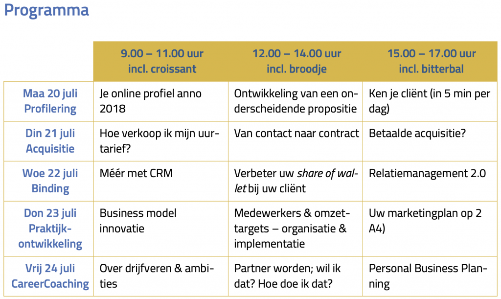 programma legal business development summerschool 2020