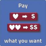 pay what you want bepaal zelf de prijs