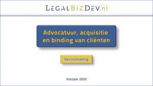 advocaat acquisitie klantenbinding