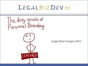 personale branding advocatuur jonge balie profileren